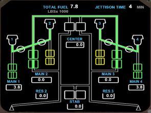 B744 EICAS Fuel Synoptic