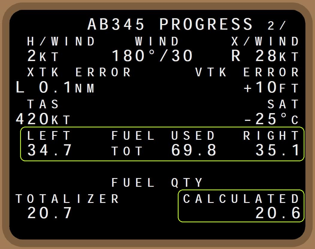 Calculated/Totalizer Fuel & Pre-Fuelling