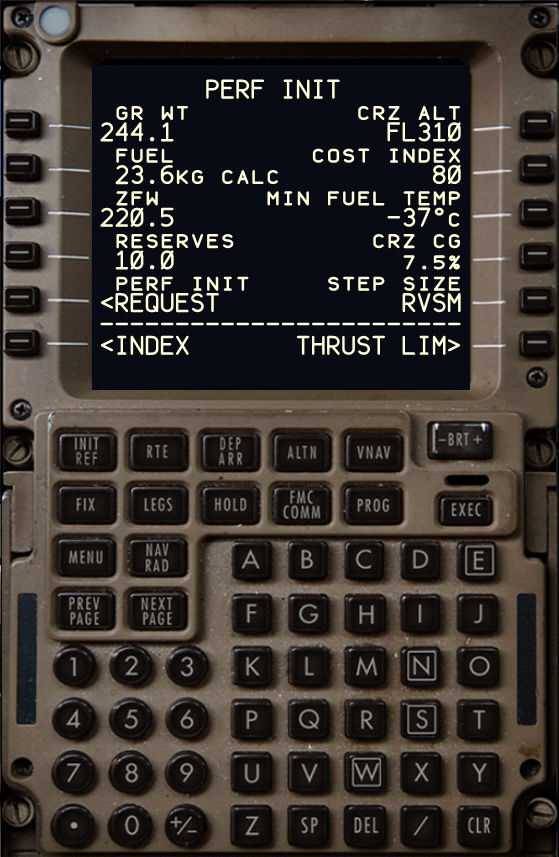 B777 Cruise CoG