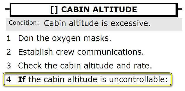 EICAS CABIN ALTITUDE – Controllable?